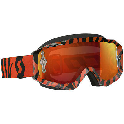NEW Scott MX Hustle Black Fluro Orange Chrome Tinted Dirt Bike Motocross Goggles