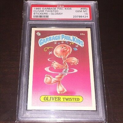 1985 Topps Garbage Pail Kids 68a Oliver Twisted Psa Gem Mint 10 Glossy