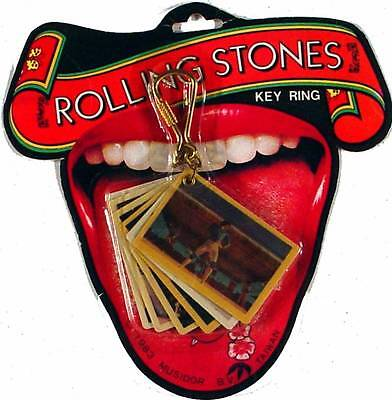 """Collectible Licensed 33 Year Old """"Rolling Stones"""" Key Chain With 6 Tour Pictures"""