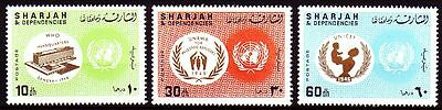 Sharjah 1967 ** Mi.353/55 A Vereinte Nationen UNO United Nations UNICEF
