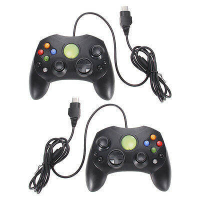 Lote 2 Wired Controller Negro Game Pad para Microsoft XBOX S Tipo 2