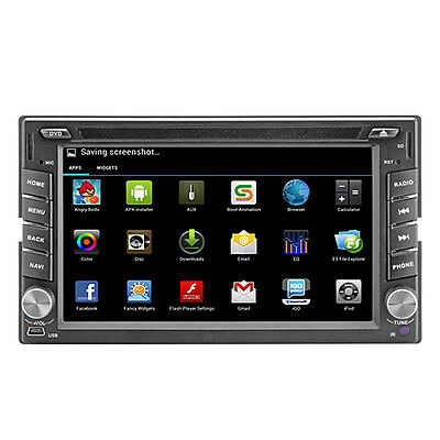 CA 6.2'' Double 2 Din Android Car DVD Player Stereo GPS Navi SAT Bluetooth iPod