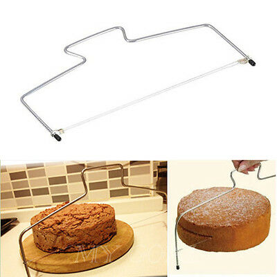 Cake Cutter Bread Wire Slicer Cutting Leveller Leveler Decorating Decor Tool UK
