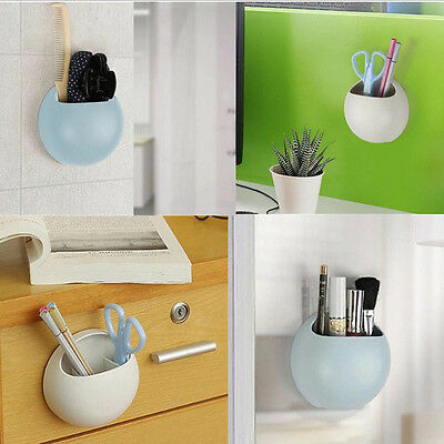 Home Bathroom Toothbrush Holder Wall Mount Suction Cup Toothpaste Storage Rack