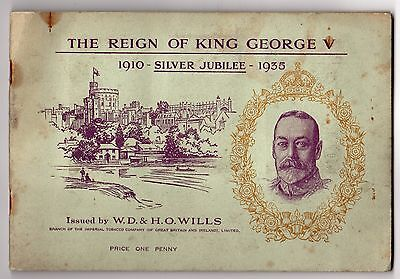 THE REIGN OF KING GEORGE V Wills Cigarette Cards FULL SET In Book