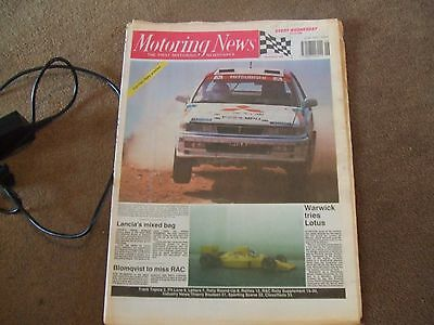 Motoring News 15 November 1989 Ivory RAC Rally Preview Ralliart Will Gollop