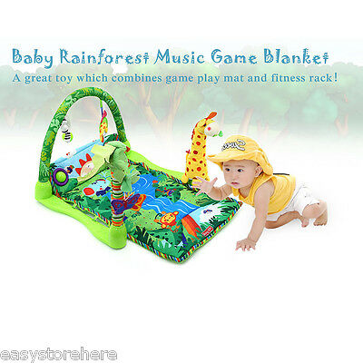 Baby Rainforest Music Lullaby Baby Play Soft Mat Activity Play Gym Crawl Toy