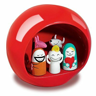 Alessi Presepe Nativity Set - Red