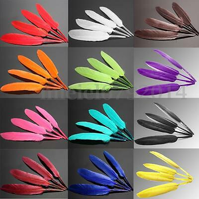 100X Natural Goose Feathers 10-15cm/4-5inches DIY Home Art Craft Decor Trimmings
