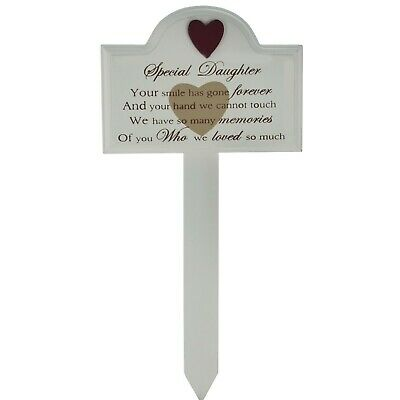 Daughter Memorial Stick Graveside Decoration Tribute Condolence PlaqueF1319D