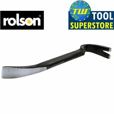 "Rolson 12"" 300mm Steel Turbo Wrecking Crow Pry Nail Lever Bar Builders DIY Tool"