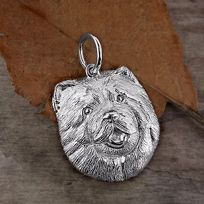 Sterling Silver CHOW CHOW DOG Pendant or Charm