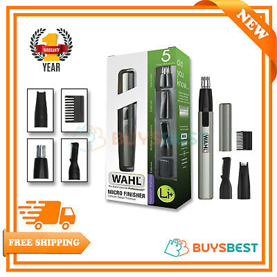 Wahl Lithium Ion Micro Finisher Detailer Face Ears Nose Eyebrow Hair Trimmer