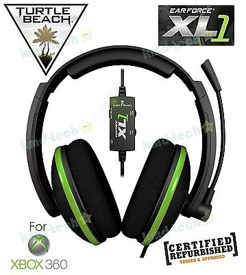 Turtle Beach Earforce Xl1 Stereo Gaming Headset For Xbox 360 Usb ~ Black Rrp$59