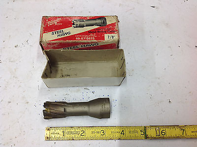 """7/8"""" Milwaukee 49-57-0875 Carbide Tipped Steel Hawg Metal Boring Cutter NEW"""