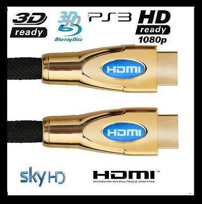 1M 2M Gold Shell Premium Gold HDMI Video Cable 1080p for HDTV LCD Xbox 3D Sky