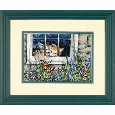 Dimensions - Counted Gold Cross Stitch Kit - Feline Love - Cats - D65051
