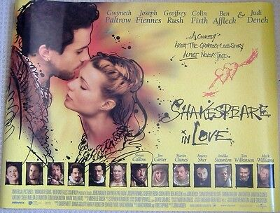 Shakespeare in Love (1998) Original Rolled UK Quad Movie Poster, Gwyneth Paltrow