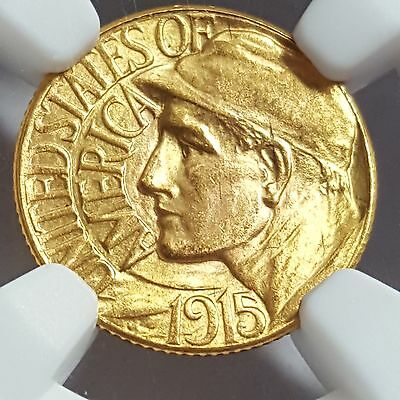 1915 S Panama Pacific Expo Gold Dollar $ MS 65 NGC SCARCE COIN