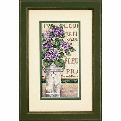 Dimensions - Counted Gold Cross Stitch Kit - Hydrangea Floral - D65092