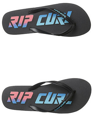 New Rip Curl Men's Line Up Thong Rubber Mens Shoes Black