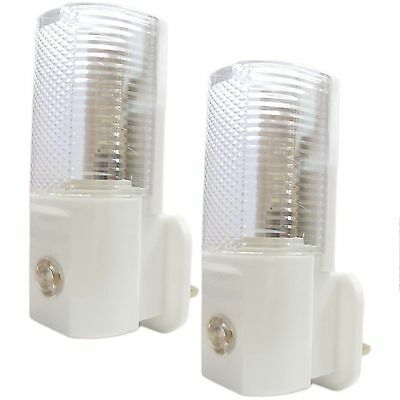 2 x 3 LED PLUG IN AUTOMATIC BABY SAFETY NIGHT LIGHT LOW ENERGY SECURITY