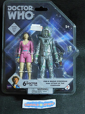 Doctor Who 6th Doctor Peri & Rogue Cyberman from ATTACK OF THE CYBERMEN BBC