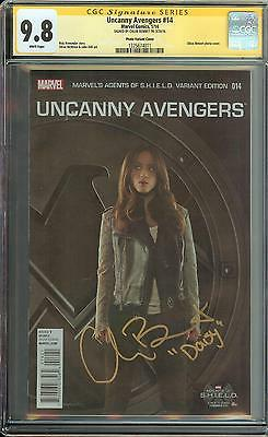 Uncanny Avengers #14 Ss Cgc 9.8 Auto Chloe Bennet Daisy Agents Of Shield Actress