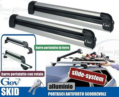 A8950 Ski Roof Rack Ant-Itheft System For Bars Gev Skid For 5/6 Pairs Di Sci O 2