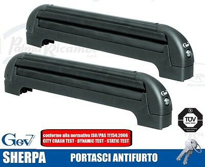 8936 Ski Roof Rack Ant-Itheft System For Bars Gev Sherpa For 4/5 Pairs Di Sci O