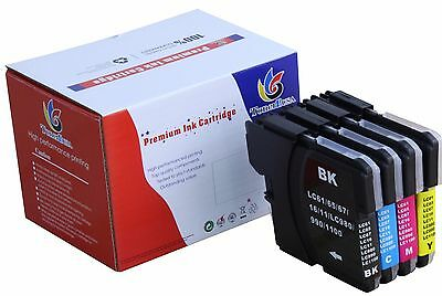 4 Pack LC61 XL Ink cartridge For Brother MFC-290C 295CN 495CW 490CW J615W