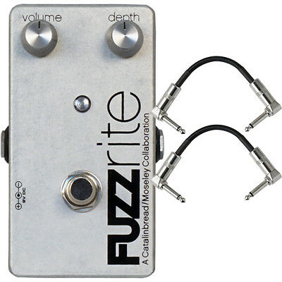 Catalinbread Fuzzrite V2 Fuzz Classic Guitar Effects Stompbox Pedal +Cables