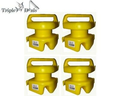 4 Pack of Yellow Seahorse Lokstak Connectable Marker Bouys/Crab Pot Floats