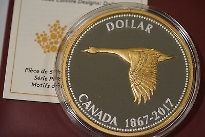 2017 5OZ Big Coin Alex Colville Designs Pure Silver Dollar, Mint Sold 2150 Out.
