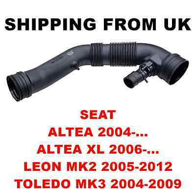AIR FILTER INTAKE PIPE HOSE for SEAT ALTEA XL LEON MK2 TOLEDO MK3 1.6 75KW 102HP