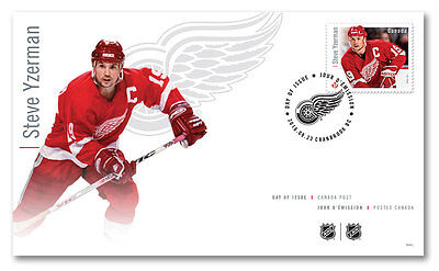 Steve Yzerman Official First Day Cover NHL Forwards Canada Post OFDC