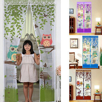 Magic Mesh Screen Hands-Free Net Door Owl With Magnets Anti Mosquito Bug Curtain