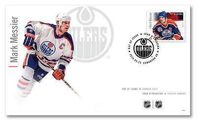 Mark Messier Official First Day Cover NHL Forwards Canada Post OFDC