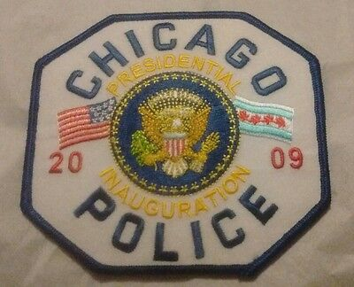 Chicago Police 2009 Obama Presidential Inauguration Embroidered Patch