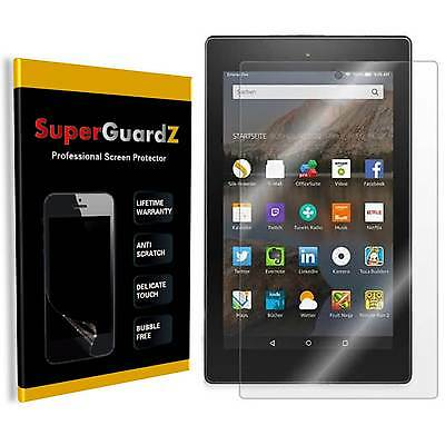3X SuperGuardZ Clear Screen Protector Shield For Amazon Fire HD 8 (2015 & 2016)