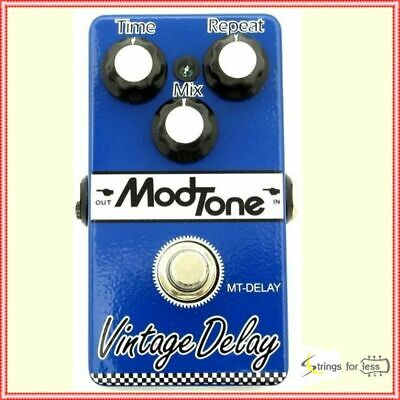 MODTONE MT- DELAY Vintage Analog Delay Guitar Effects Pedal New