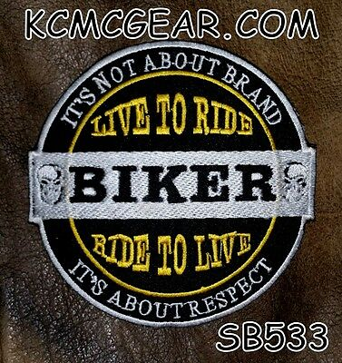 It's Not About Brand Small Badge for Biker Vest Jacket Motorcycle Patch