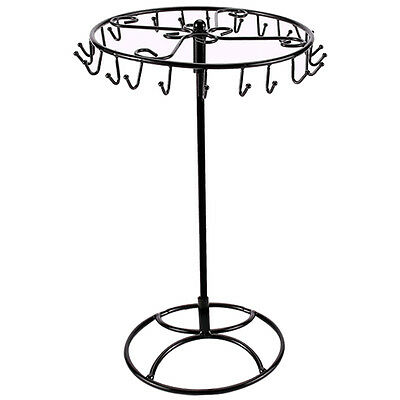 Rotatable Metal Bracelet Necklace Jewelry Organizer Holder Display Stand Rack