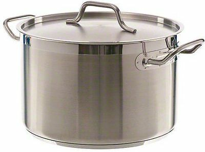 Winco  (SST-12) - 12 Qt Induction Ready Stainless Steel Stock Pot w/Cover