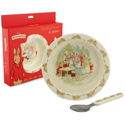 NEW Royal Doulton Bunnykins Melamine Bowl & Spoon Set
