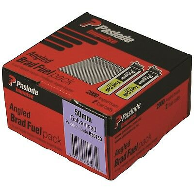 Paslode IMPULSE ANGLE BRAD NAILS + FUEL 2000Pcs Galvanised 1.6mm-45mm Or 63mm