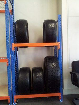 Tyre Rack - 220 H x 312 L x 45 D for 3 storage levels.$269 pick up.