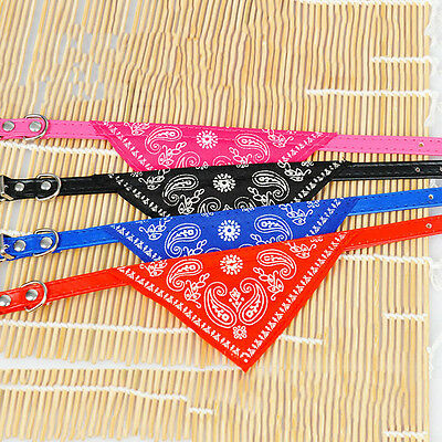 Small Puppy Adjustable Pet Cat Dog Collar Neckerchief with Neck Scarf Bandana