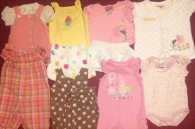 Lot Of Baby Girl Clothes Size 0-3