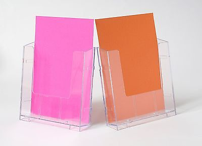 Wall Mounted Plastic Perspex A4 Brochure Holder Display Modular